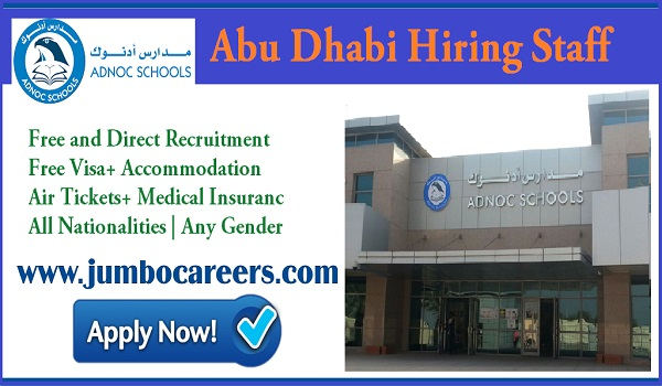 Government school jobs in Abu Dhabi, Teachers job vaccines in UAE,