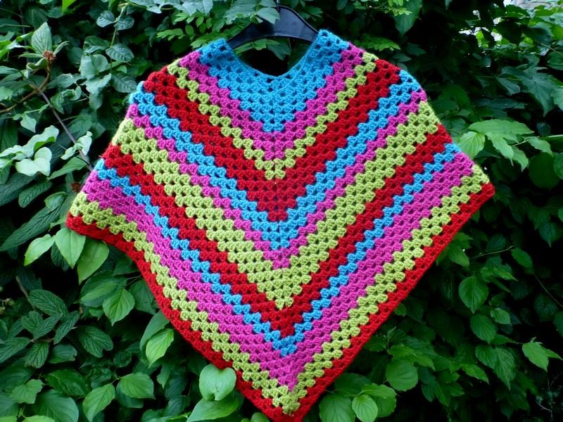 Granny Stripe Poncho Lindevrouwsweb Bloglovin