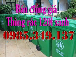 thùng rác công cộng 120lít