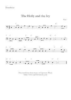 The Holly And The Ivy, trombone