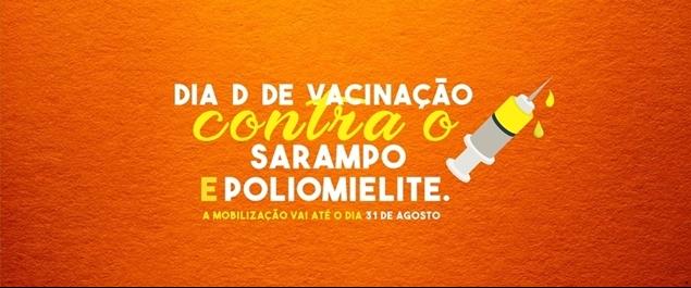Dia D de vacinação contra as ameaças do sarampo e da poliomelite acontecem amanhã (18/08) em São Pedro da Aldeia.