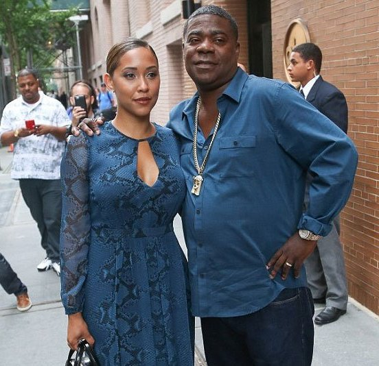 comedian tracy morgan steps out with his wife and cute. Black Bedroom Furniture Sets. Home Design Ideas