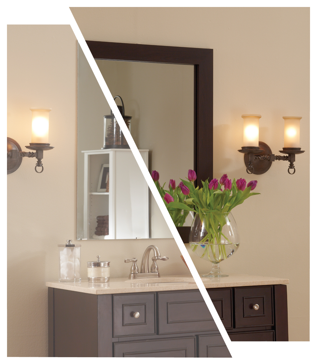 Mirrormate review and giveaway house of jade interiors blog - Mirror frame kits for bathroom mirrors ...