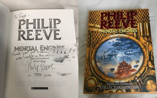 rege jean mortal engines signed book