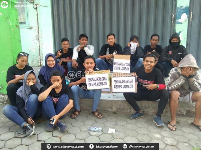 MP Loyalis 2001, Suporter PS Mojokerto Putra Galang Dana untuk Korban Gempa di Lombok