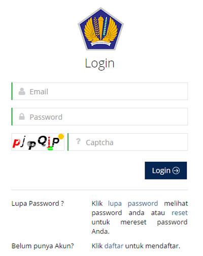 Login ke eregistartion Pajak untuk Pendaftaran NPWP secara Online