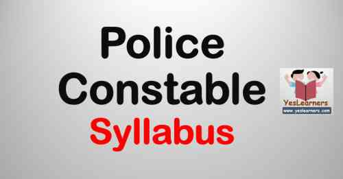 Police Constable Syllabus