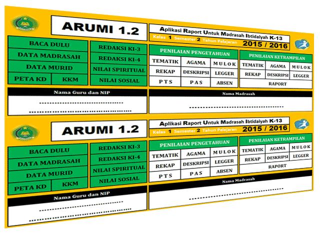 Contoh Aplikasi Raport Kurikulum 2013 SD/MI Format Excel