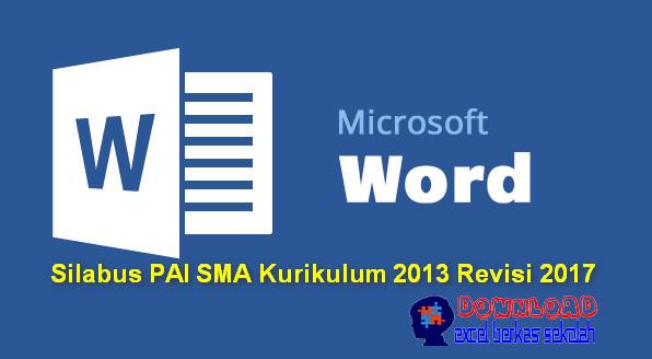 Silabus PAI SMA Kurikulum 2013 Revisi 2017