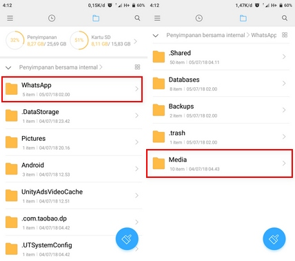 Simpan Status Foto dan Video WhatsApp