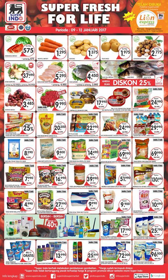 Katalog Harga Promo Superindo 9 – 12 Januari 2017