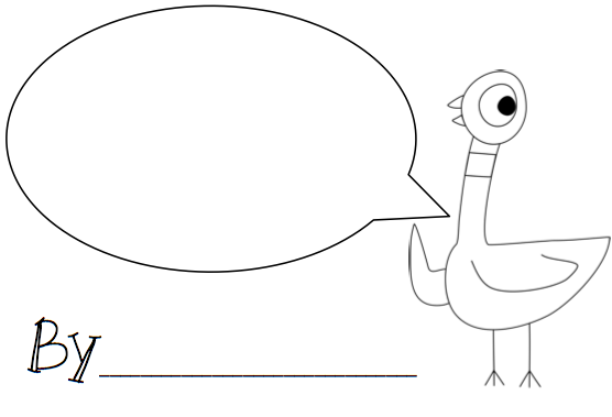 pigeon coloring pages mo willems - photo#4