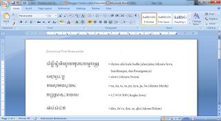 Font Aksara Jawa Hanacaraka untuk PC