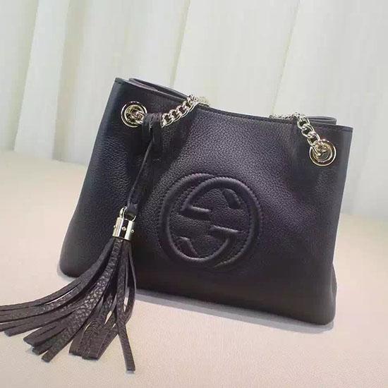 10520a9d913d Gucci Outlet Store Online: Gucci Soho Leather Chain Strap Shoulder Bag  387043