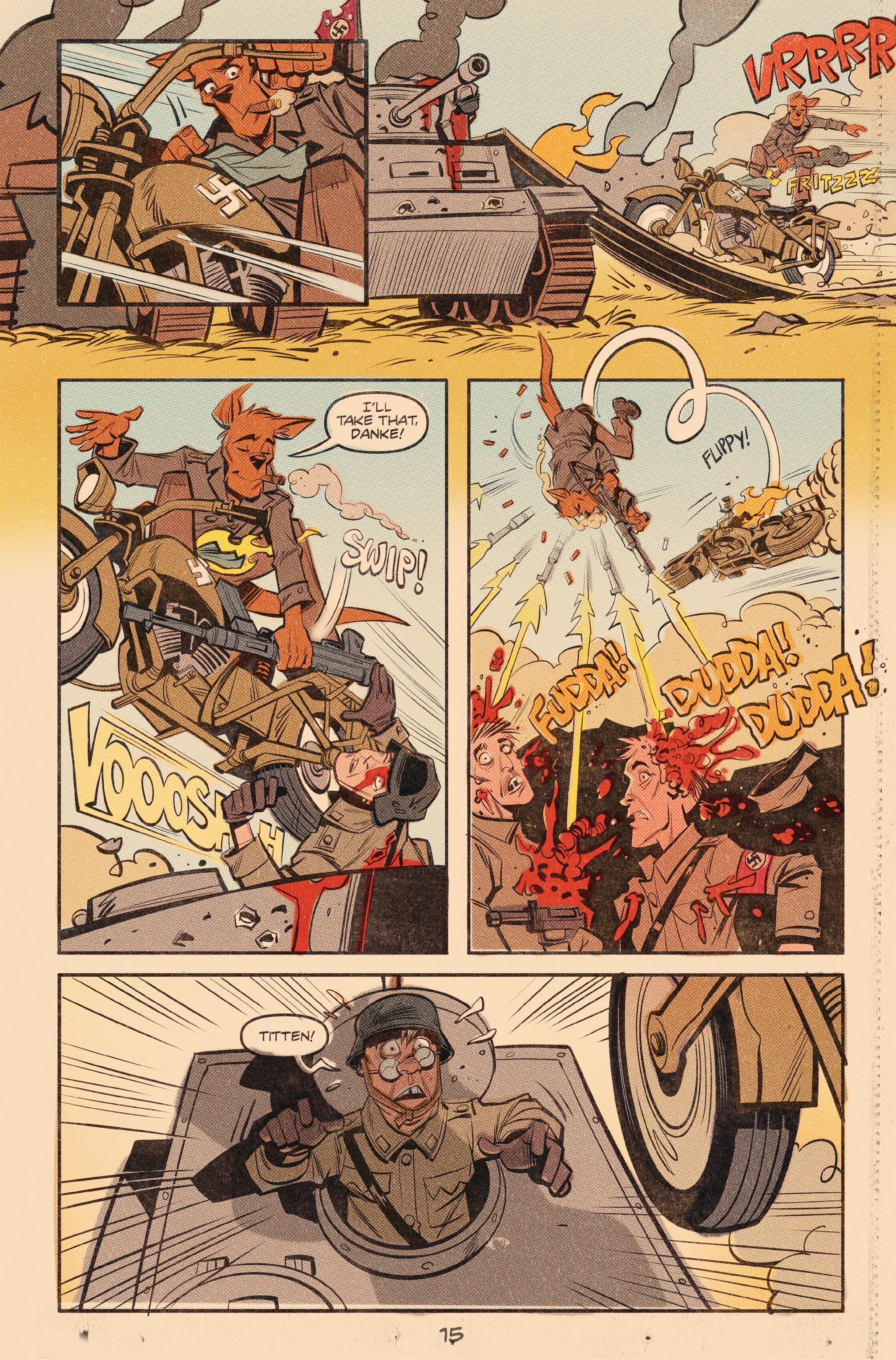 Read online Tank Girl: World War Tank Girl comic -  Issue #3 - 16