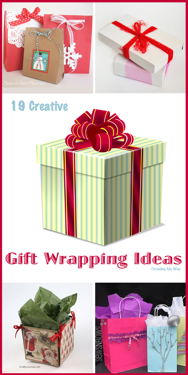 Creative Gift Wrapping ideas that cost next to nothing. Many use recycled items. ~ Threading My Way