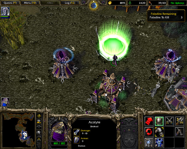 Digging Up the Dead Mission 13 | Scourge Screenshot | Warcraft 3: Reign of Chaos