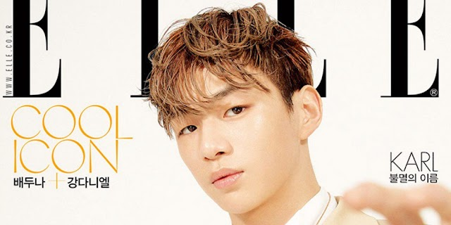 Kang Daniel glows on the cover of 'Elle' magazine as endorsement model for 'Louis Vuitton'