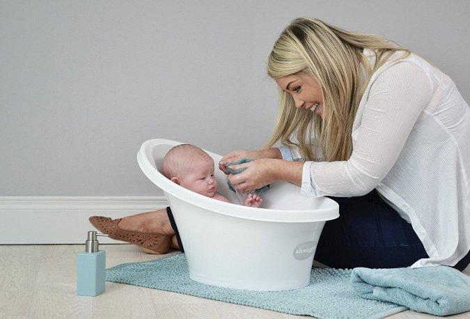 Bañeras con forma de cubo para bebés