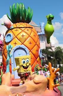 Spongebob Sparepants, Universal Studios Parade, Florida