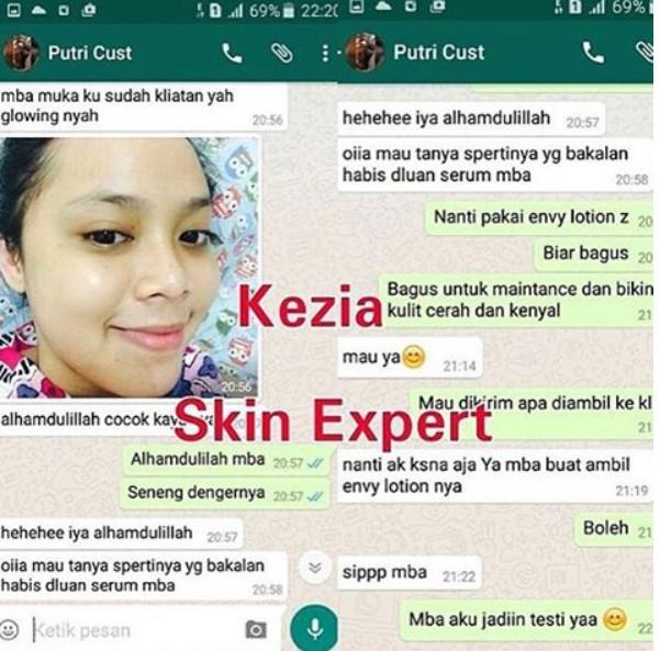 Testimonial KEZIA Skin Expert