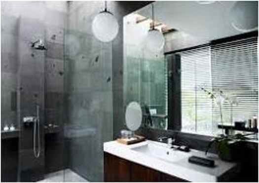 Solution Small Bathroom Dark Floor Light Walls