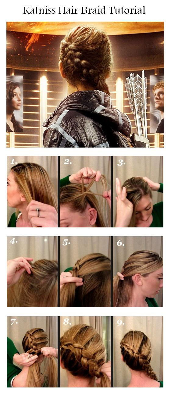 Katniss Braid Tutorial For Short Hair  Triple Weft Hair ...