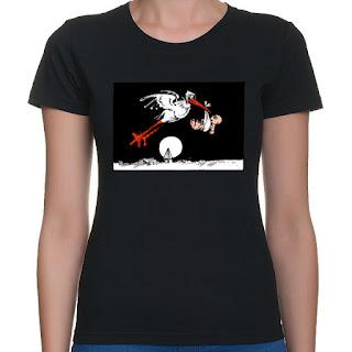 Koszulka z bocianem dla cięzarnej