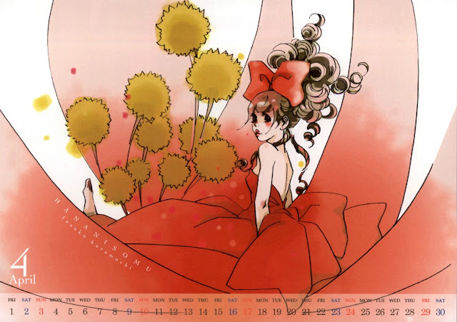 2016-04 Calendar Cocohana Kuramochi Fusako - Hana ni Somu