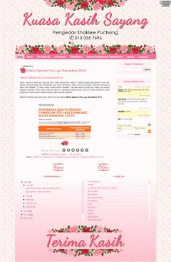 Design Blog Ummie Erna Shaklee