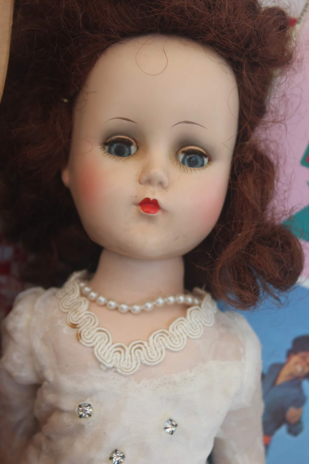 The other day I posted about my flea market haul. One of the dolls I  mentioned was a hard plastic Nanette doll by Arranbee. 6ba9fea48ea9