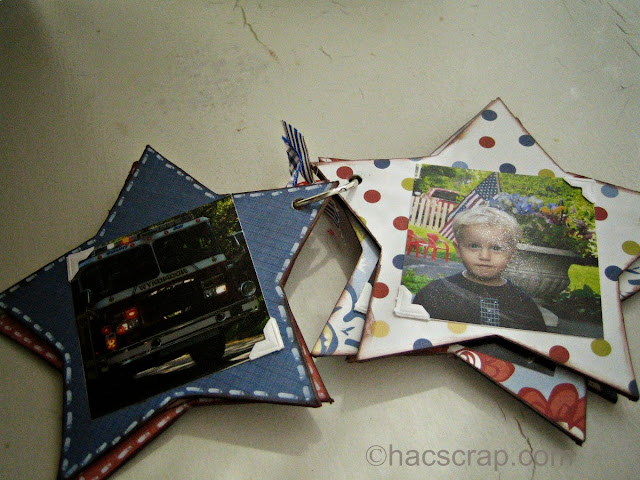 Inside Glimpse of Holiday Mini Memory Book