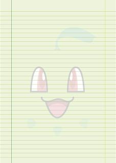 Papel Pautado do Chikorita Pokemon PDF para imprimir na folha A4