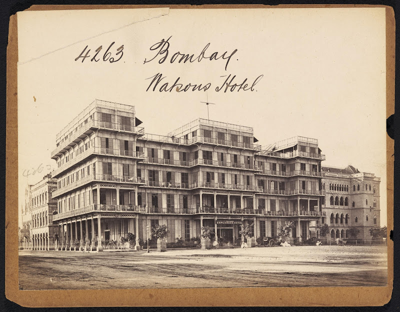 Watson's Hotel Bombay (Mumbai) - 19th Century Photograph