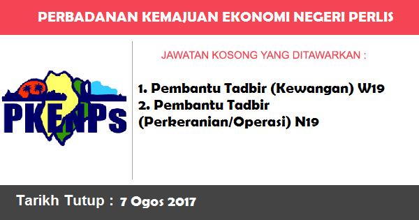 Jawatan Kosong di Perbadanan Kemajuan Ekonomi Negeri Perlis (PKENPs)