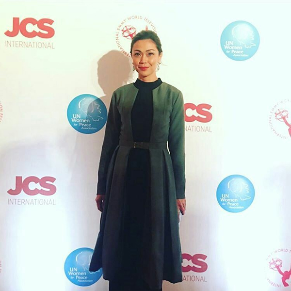 Jodi Sta Maria at the red carpet of International Emmys