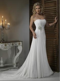 vestido simples de noiva tomara que caia