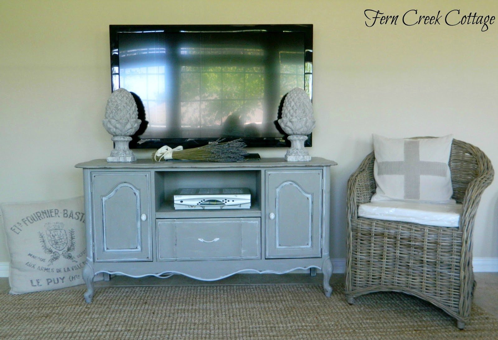 French Buffet Turned Tv Stand
