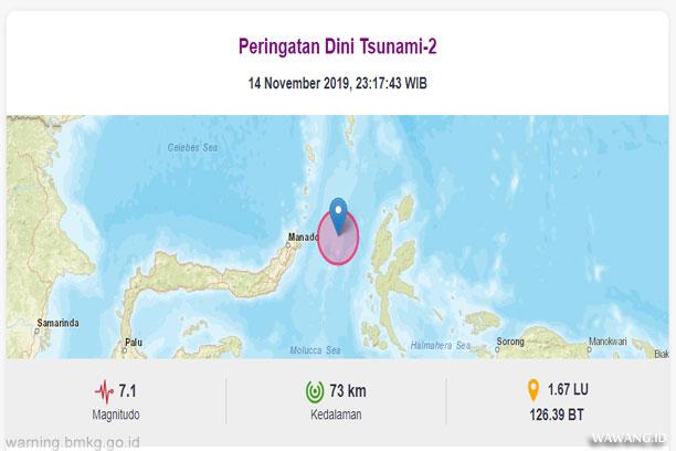 Gempa Bumi 7.1 SR Maluku Utara dan Sulawesi Utara