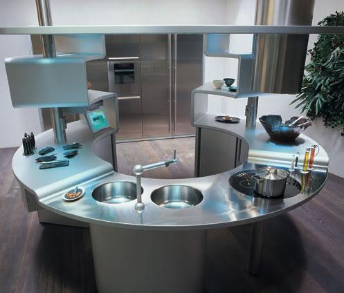 Cocinas Futuristas Fotos Ideas Para Decorar Disenar Y Mejorar Tu - Cocinas-futuristas
