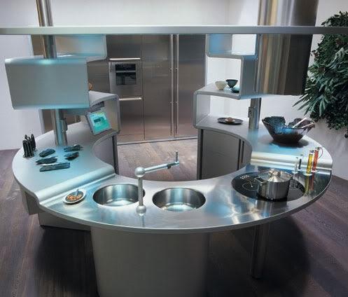 cocinas futuristas fotos ideas para decorar dise ar y mejorar tu casa. Black Bedroom Furniture Sets. Home Design Ideas