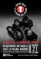 Concierto de Javier Sólo  & La banda del vecino en Café la Palma