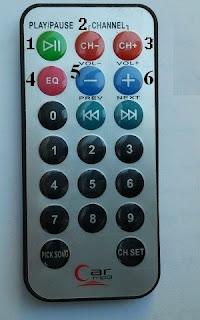 Car MP3 NEC remote control button codes