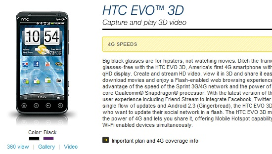 Update Sprint htc evo 3d firmware to latest
