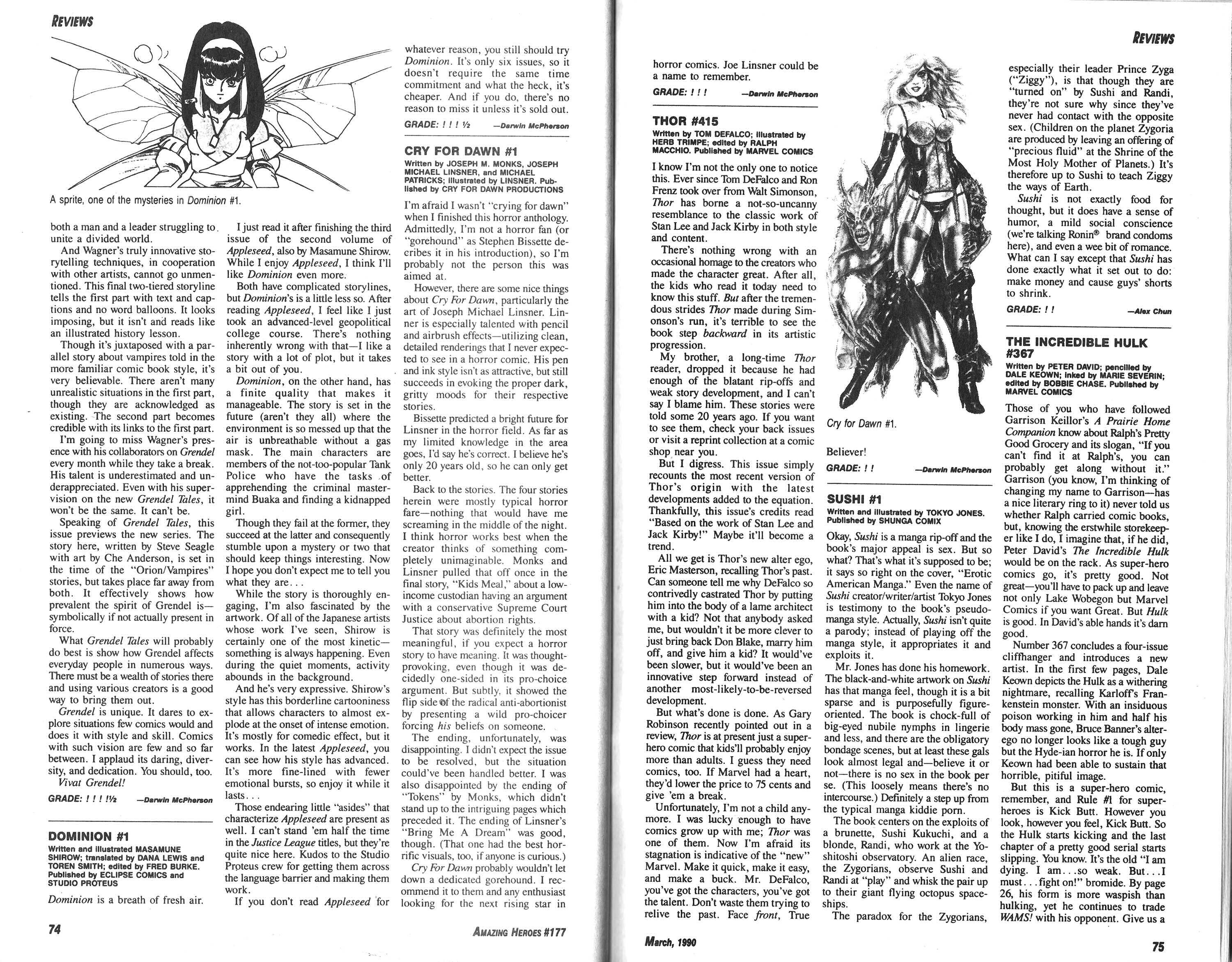 Read online Amazing Heroes comic -  Issue #177 - 38
