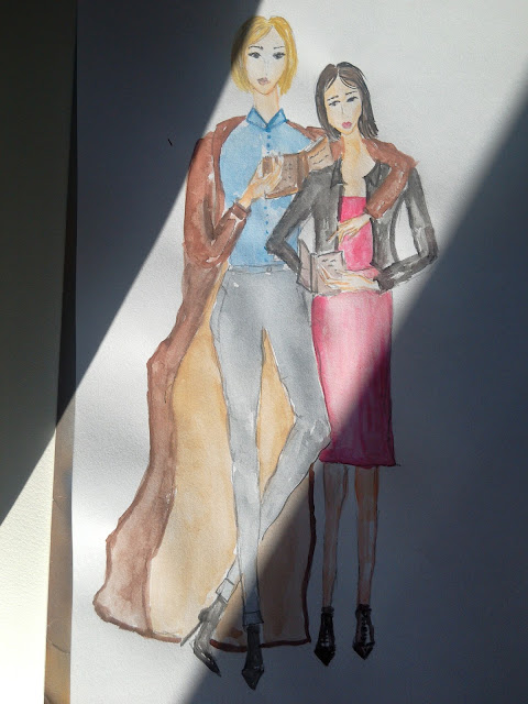 #fashionillustration #modnailustracija #modaodaradosti #girlswhoread #friendswhoreadtogetherstaytogether