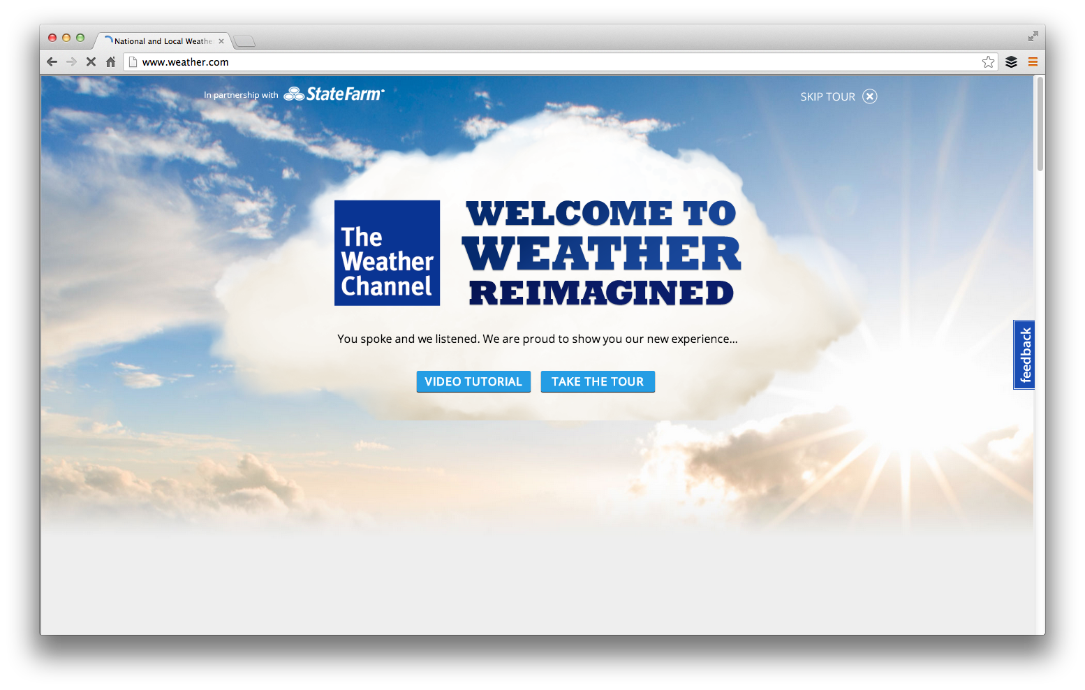 Robservations: The Weather Channel tour