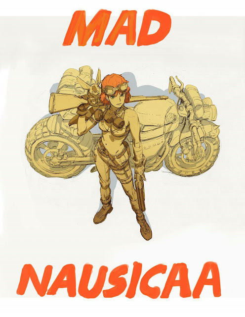 Nausicaä vs. Mad Max Illustration by Lee Sunkist
