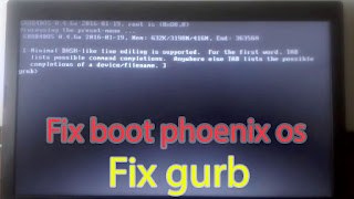 Phoenix os حل مشكلة عدم اقلاع نظام فينيكس