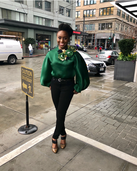 Chimamanda-Adichie-outfit-to-International-Women-Day-event-at-Amazon-Headquarters